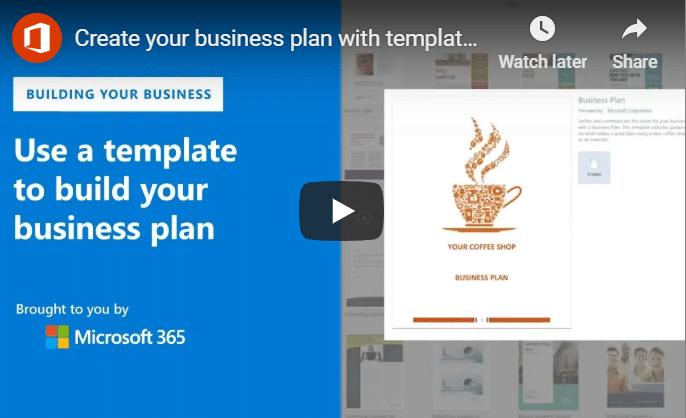 Microsoft Business Plan Template